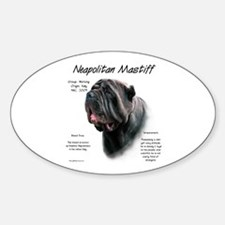 Black Neo Oval Decal