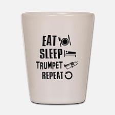 Eat Sleep Trumpet Shot Glass