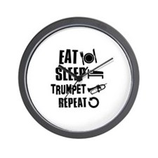 Eat Sleep Trumpet Wall Clock