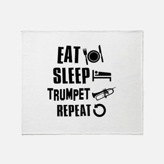 Eat Sleep Trumpet Throw Blanket