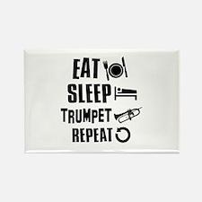 Eat Sleep Trumpet Rectangle Magnet
