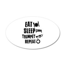 Eat Sleep Trumpet Wall Decal