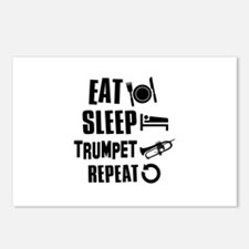 Eat Sleep Trumpet Postcards (Package of 8)
