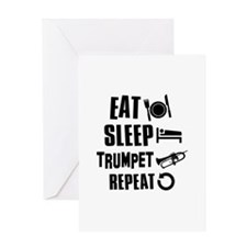 Eat Sleep Trumpet Greeting Card