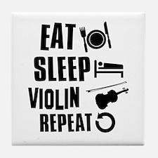 Eat Sleep Violin Tile Coaster
