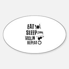 Eat Sleep Violin Sticker (Oval)