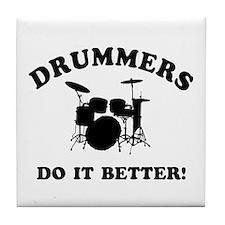 Cool Drummer Designs Tile Coaster