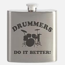 Cool Drummer Designs Flask