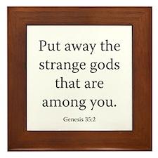Genesis 35:2 Framed Tile