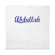 Abdullah, Blue, Aged Queen Duvet