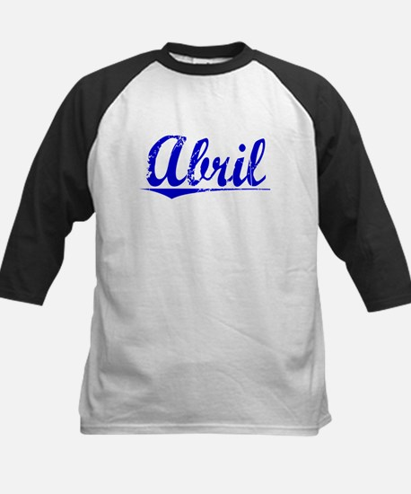 Abril, Blue, Aged Kids Baseball Jersey