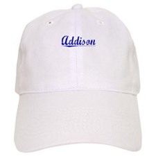 Addison, Blue, Aged Baseball Cap