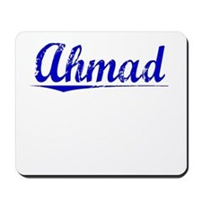 Ahmad, Blue, Aged Mousepad