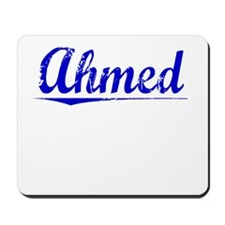 Ahmed, Blue, Aged Mousepad
