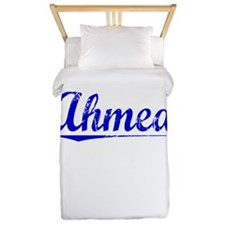 Ahmed, Blue, Aged Twin Duvet