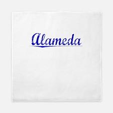 Alameda, Blue, Aged Queen Duvet
