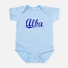 Alba, Blue, Aged Infant Bodysuit