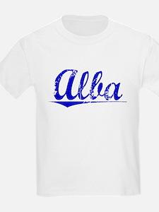 Alba, Blue, Aged T-Shirt