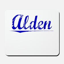 Alden, Blue, Aged Mousepad
