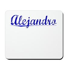 Alejandro, Blue, Aged Mousepad