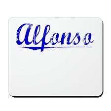 Alfonso, Blue, Aged Mousepad