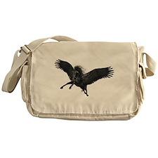 Black Pegasus Messenger Bag