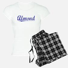 Almond, Blue, Aged Pajamas