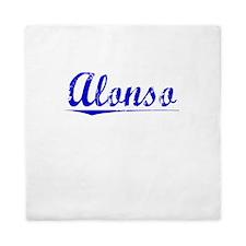 Alonso, Blue, Aged Queen Duvet