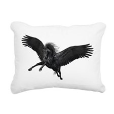 Black Pegasus Rectangular Canvas Pillow