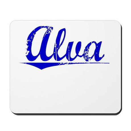 Alva, Blue, Aged Mousepad