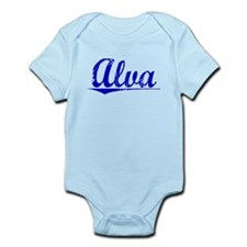 Alva, Blue, Aged Infant Bodysuit