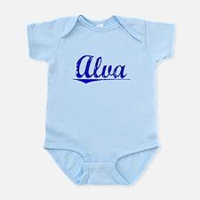 Alva, Blue, Aged Infant Bodysuit