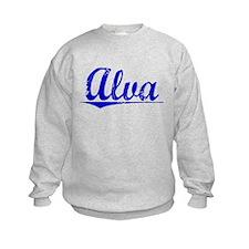 Alva, Blue, Aged Sweatshirt