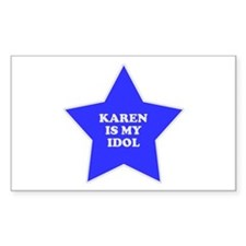 Karen Is My Idol Rectangle Decal