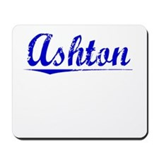 Ashton, Blue, Aged Mousepad