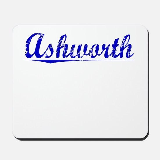 Ashworth, Blue, Aged Mousepad