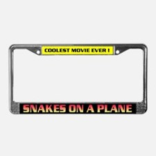 Snakes on a Plane License Plate Frame