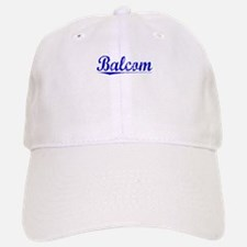 Balcom, Blue, Aged Baseball Baseball Cap