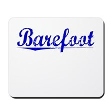 Barefoot, Blue, Aged Mousepad