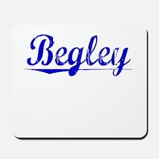 Begley, Blue, Aged Mousepad