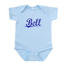 Bell, Blue, Aged Infant Bodysuit