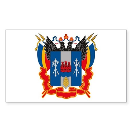 Rostov Coat of Arms Rectangle Sticker