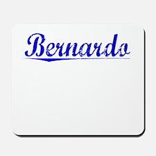 Bernardo, Blue, Aged Mousepad