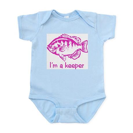 I'm a keeper (pink) Infant Creeper