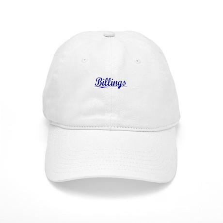 Billings, Blue, Aged Cap