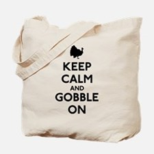 Keep Calm & Gobble On Tote Bag