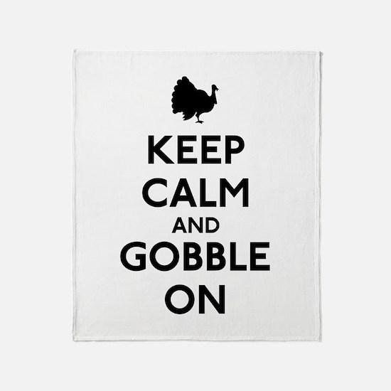 Keep Calm & Gobble On Throw Blanket