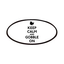 Keep Calm & Gobble On Patches