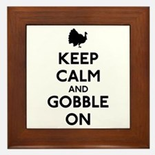 Keep Calm & Gobble On Framed Tile