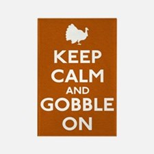 Keep Calm & Gobble On Rectangle Magnet